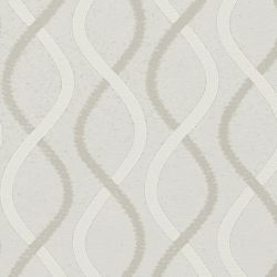 Classic Wave Fold Drapery in 16975 Ogee Sheer/Silver