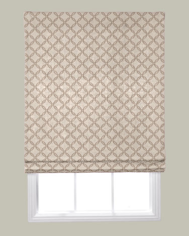 Flat roman fabric shades configuration for Smith and noble shades